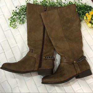 Lane Bryant Brown Boots 👢 Sz 10W